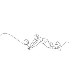 single continuous line drawing male young vector image
