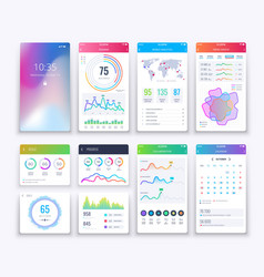 Smartphone ui mobile graphic ui and ux vector