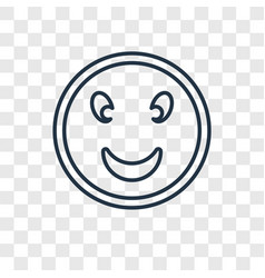 smiling face concept linear icon isolated on vector image