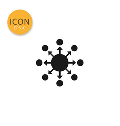 spreading distribution icon isolated flat style vector image