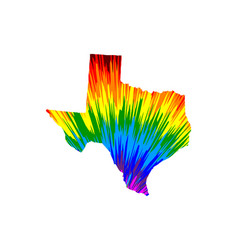 Texas - map is designed rainbow abstract colorful vector