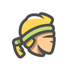 thai fighter head icon cartoon vector image