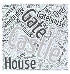Tonbridge Castle Word Cloud Concept vector