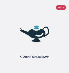 Two color arabian magic lamp icon from religion-2 vector