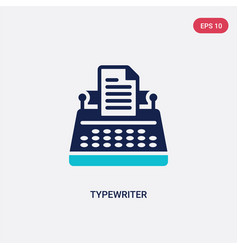 Two color typewriter icon from electronic devices vector