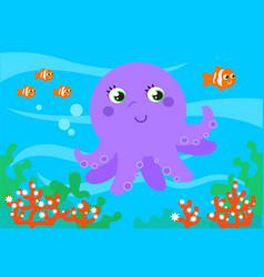 Underwater wildlife vector