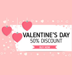 valentineday sale label vector image