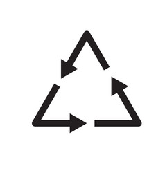 Waste processing icon on white background waste vector