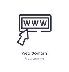Web domain outline icon isolated line from vector