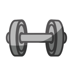 Weight lifting gym equipment vector