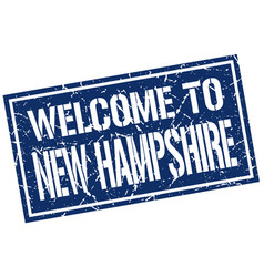 welcome to new hampshire stamp vector image