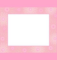 white paper sheet in pink frame vector image