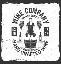 wine company badge sign or label vector image