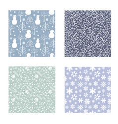winters new year patterns vector image