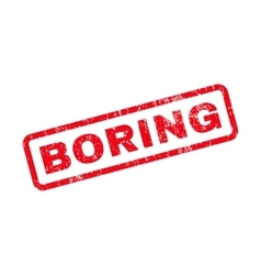 Boring text rubber stamp vector
