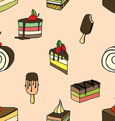 desserts and ice cream vector image