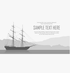 landscape with sailing ship vector image