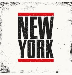 new york sportswear emblem athletic apparel vector image vector image