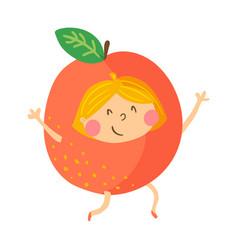 Orange girl vector