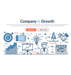 web site header - company and growth vector image vector image