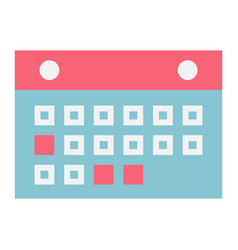 Calendar flat icon mobile and website button vector