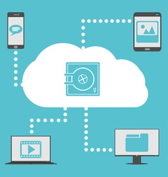 Cloud With Devices vector image vector image