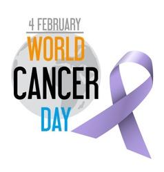 world cancer day celebration of cancer awareness vector image