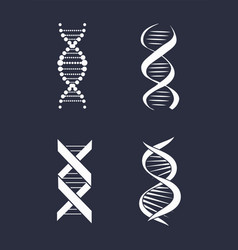 collection of dna deoxyribonucleic acid chain logo vector image