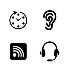 communication simple related icons vector image vector image
