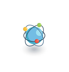global communication network isometric flat icon vector image vector image