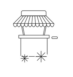 Line fast food car with delicious meal vector