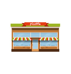pizzeria cafe small store shop facade vector image