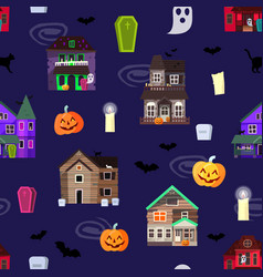 scary horror house dark castle home vector image vector image