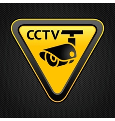 cctv triangle sign vector image