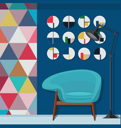 cool living room decorating vector image vector image