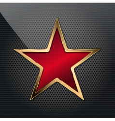 copper red star vector image