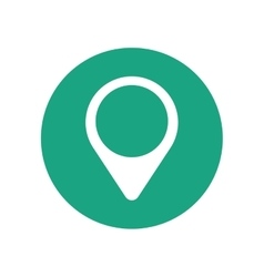 Pointer map location green circle vector