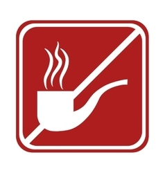 restricted tobacco pipe smoking square sign vector image