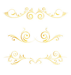set of page decoration golden elements vector image vector image
