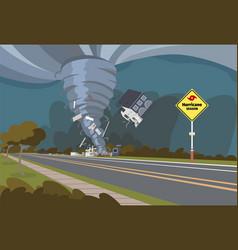 a destructive hurricane vector image