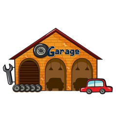 A garage vector