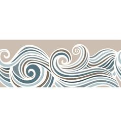 Abstract horizontal seamless waving background vector image