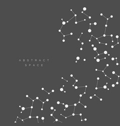Abtract background with connected line and dots vector