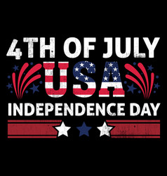 american independence day t shirt design template vector image
