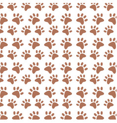 background paw animal decoration pattern vector image