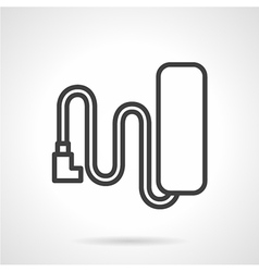 Battery line icon vector image vector image