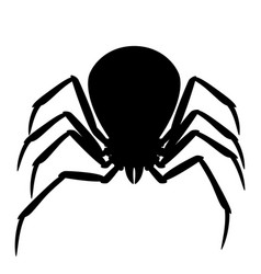 black widow spider silhouette vector image