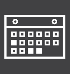 calendar line icon mobile and website button vector image
