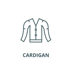 cardigan line icon cardigan outline sign vector image