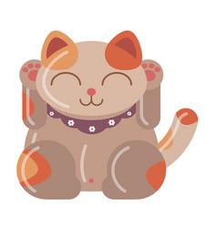 Cat japan lines vector